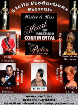 Show Ad | Mr. and Miss Heart of America Continental | Baton Show Lounge (Chicago, Illinois) | 5/7/2012