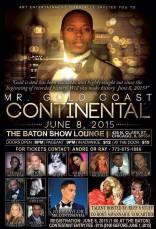 Show Ad | Mr. Gold Coast Continental | The Baton Show Lounge (Chicago, Illinois) | 6/8/2015