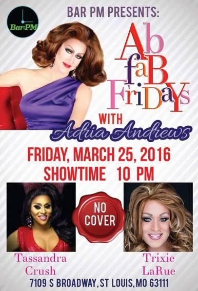 Show Ad | Bar PM (St. Louis, Missouri) | 3/25/2016