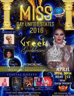 Show Ad | Miss Gay United States | Gay 90's (Minneapolis, Minnesota) | 4/29-5/1/2016