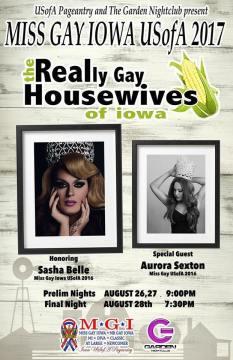 Show Ad   Miss Gay Iowa USofA   The Garden Nightclub (Des Moines, Iowa)   8/26-8/28/2016