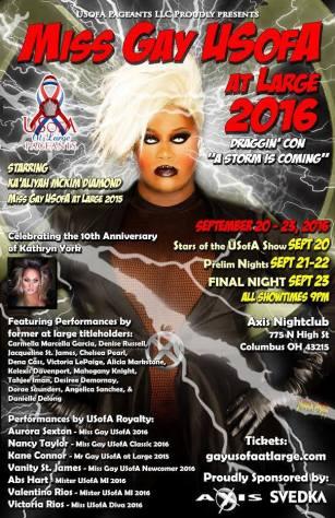 Show Ad   Miss Gay USofA at Large   Axis Night Club (Columbus, Ohio)   9/20-9/23/2016
