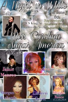 Show Ad | Miss Gay Carolina Sugar America | The Rock Shop Music Hall (Fayetteville, North Carolina) | 6/6/2015