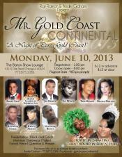 Show Ad | Mr. Gold Coast Continental | The Baton Show Lounge (Chicago, Illinois) | 6/10/2013