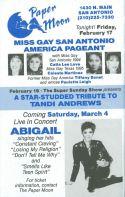 Show Ad | Miss Gay San Antonio America | Paper Moon (San Antonio, Texas) | 2/17/1995