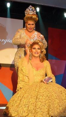 Scarlett Dailey, Miss Gay Georgia USofA Classic 2007 crowning Ashley Kruiz as Miss Gay Georgia USofA Classic 2008.