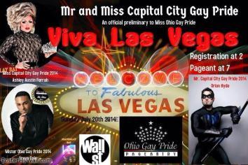 Show Ad | Mr. and Miss Capital City Gay Pride | Wall Street Nightclub (Columbus, Ohio) | 7/20/2014