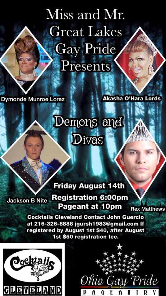 Show Ad | Mr. and Miss Great Lakes Gay Pride | Cocktails (Cleveland, Ohio) | 8/14/2015
