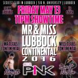 Show Ad | Mr. and Miss Lubbock Continental | Club Pink (Lubbock, Texas) | 5/13/2016