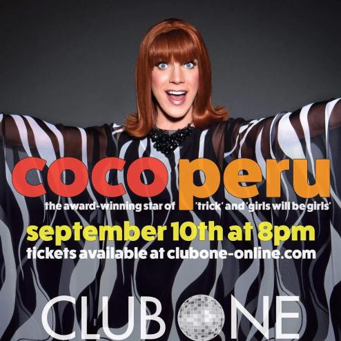 Show Ad | Coco Peru | Club One (Savannah, Georgia) | 9/10/2016