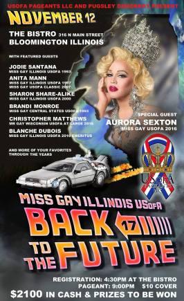 Show Ad | Miss Gay Illinois USofA | The Bistro (Bloomington, Illinois) | 11/12/2016