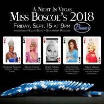 Show Ad | Miss Boscoe's 2018 | Boscoe's (Columbus, Ohio) | 9/15/2017