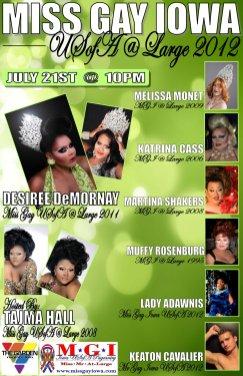Show Ad   Miss Gay Iowa USofa at Large   Garden Nightclub (Des Moines, Iowa)   7/21/2012
