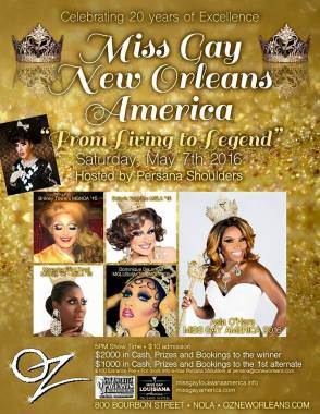 Show Ad   Miss Gay New Orleands America   Oz (New Orleans, Louisiana)   5/7/2016