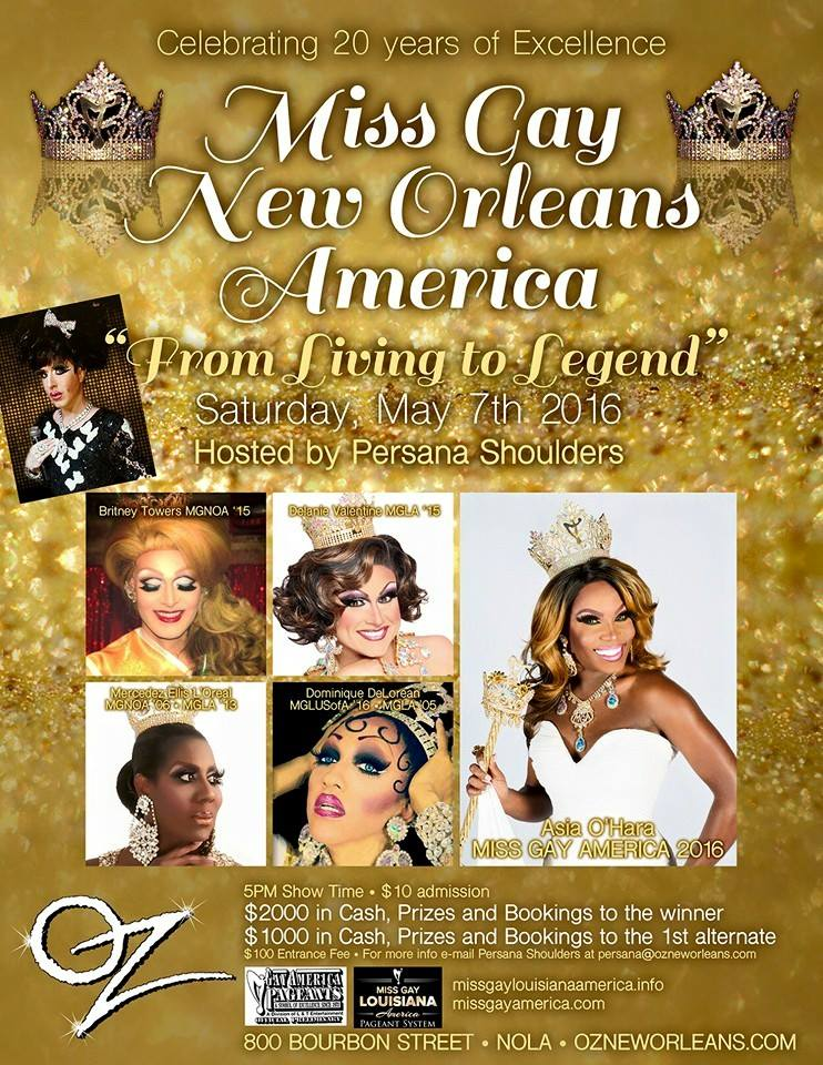 Show Ad | Miss Gay New Orleands America | Oz (New Orleans, Louisiana) | 5/7/2016