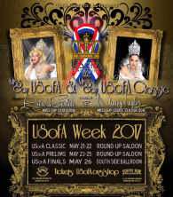 Show Ad | Miss Gay USofA and Miss Gay USofA Classic | Round-Up Saloon and South Side Ballroom (Dallas, Texas) | 5/21-5/26/2017