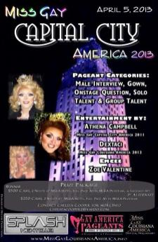 Show Ad | Miss Gay Capital City America | Splash Nightclub (Baton Rouge, Louisiana) | 4/5/2013