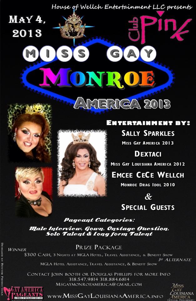 Show Ad   Miss Gay Monroe America   Pink (Monroe, Louisiana)   5/4/2013