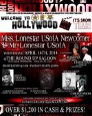 Show Ad   Miss Gay Lonestar USofA Newcomer and Mr. Gay Lonestar USofA   The Roundup Saloon (Dallas, Texas)   4/16/2014