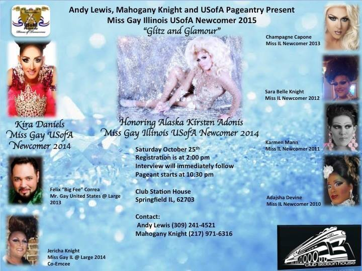 Show Ad | Miss Gay Illinois USofA Newcomer | Club Station House (Springfield, Illinois) | 10/25/2014