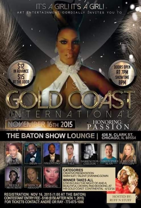 Show Ad | Miss Gold Coast International | The Baton Show Lounge (Chicago, Illinois) | 11/16/2015
