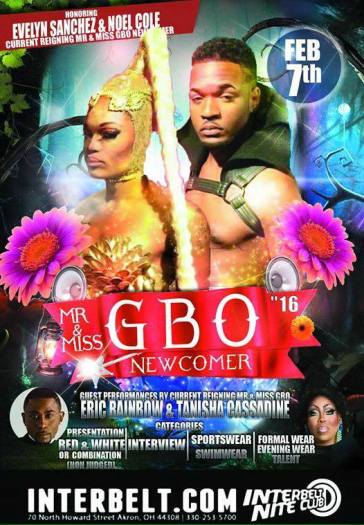 Show Ad | Mr. and Miss Black Ohio Newcomer | Interbelt Nite Club (Akron, Ohio) | 2/7/2016
