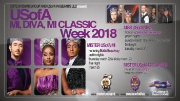 Show Ad | Miss USofA Diva, Mister USofA M.I. and Mister USofA M.I. Classic | Masque (Dayton, Ohio) | 3/18-3/24/2018