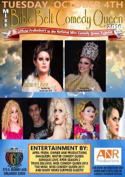 Show Ad   Miss Bible Belt Comedy Queen   Southern Nights (Orlando, Florida)   10/4/2016