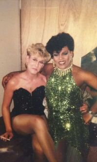Jonda St. John and Georgia Jackson. Circa 1982.