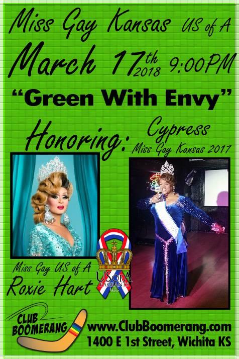 Show Ad   Miss Gay Kansas USofA   Club Boomerang (Wichita, Kansas)   3/17/2018