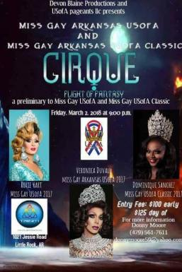 Show Ad | Miss Gay Arkansas USofA and Miss Gay Arkansas USofA Classic | Triniti Night Club (Little Rock, Arkansas) | 3/2/2018