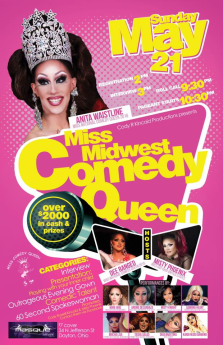 Show Ad | Miss Midwest Comedy Queen | Masque Night Club (Dayton, Ohio) | 5/21/2017