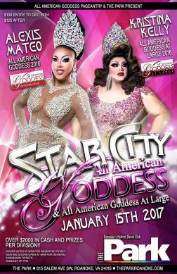 Show Ad   Star City All American Goddess and at Large   The Park (Roanoke, Virginia)   1/15/2017