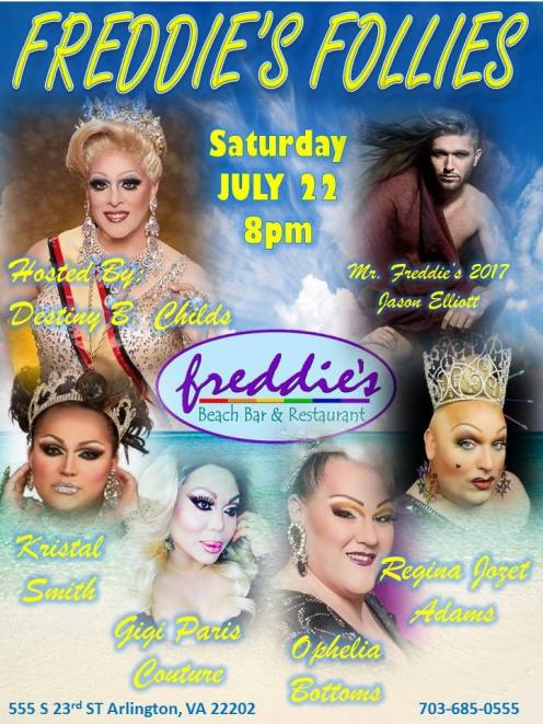 Show Ad | Freddie's Beach Bar & Restaurant (Arlington, Virginia) | 7/22/2017