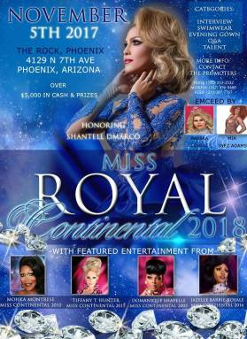 Show Ad | Miss Royal Continental | The Rock (Phoenix, Arizona) | 11/5/2017