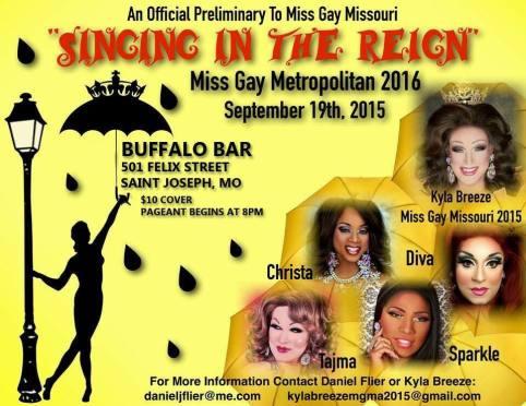 Show Ad | Miss Gay Metropolitan America | Buffalo Bar (Saint Joseph, Missouri) | 9/19/2015