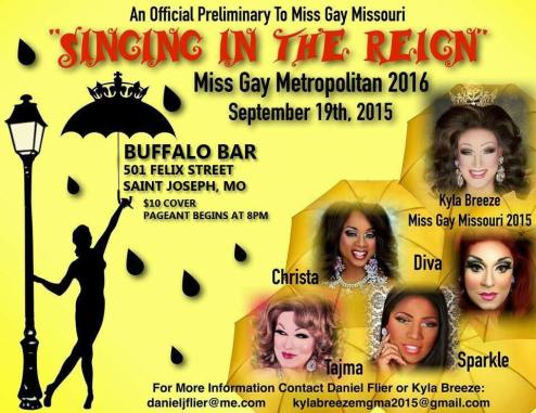 Show Ad | Miss Gay Metropolitan America | Buffalo Bar (Saint Joseph, Missouri) | 9/19/2015