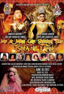 Show Ad | Mr. and Miss Gay Shining Star USofA at Large | Club Crystal (Houston, Texas) | 6/18/2017