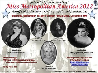 Show Ad   Miss Gay Metropolitan America   SoCo Club (Columbia, Missouri)   9/10/2011