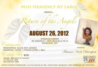 Show Ad   Miss Heavenly at Large   Wyndham Garden (New Orleans, Louisiana)   8/26/2012