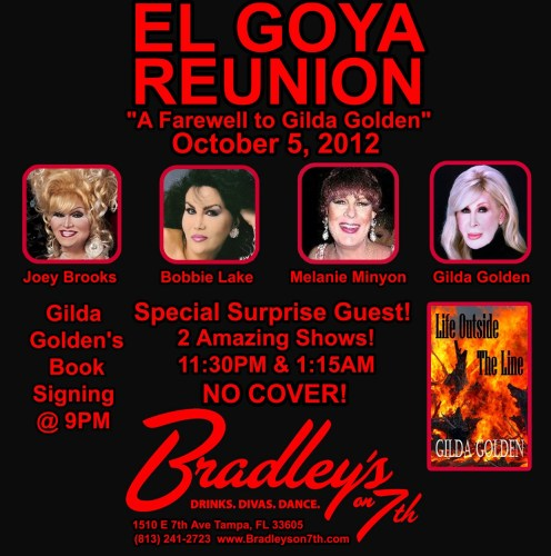 Show Ad | El Goya Reunion | Bradley's on 7th (Tampa, Florida) | 10/5/2012
