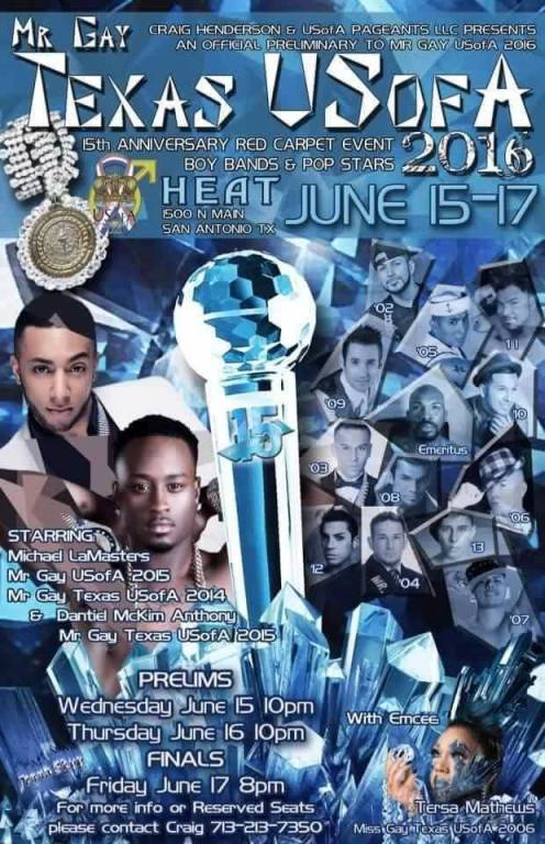Show Ad | Mr. Gay Texas USofA | Heat (San Antonio, Texas) | 6/15-6/17/2016