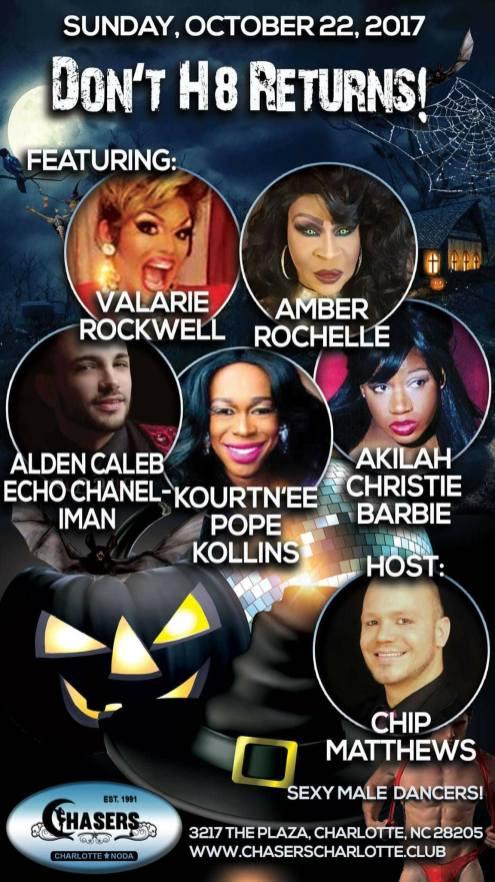 Show Ad | Chasers (Charlotte, North Carolina) | 10/22/2017