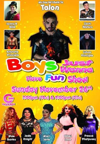 Show Ad | Garden Nightclub (Des Moines, Iowa) | 11/26/2017