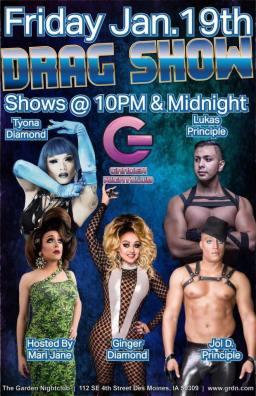 Show Ad   Garden Nightclub (Des Moines, Iowa)   1/19/2018