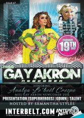 Show Ad | Miss Gay Akron Newcomer | Interbelt Nite Club (Akron, Ohio) | 2/19/2017