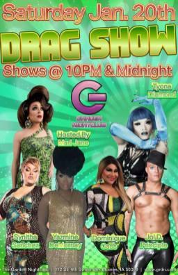 Show Ad   Garden Nightclub (Des Moines, Iowa)   1/20/2018