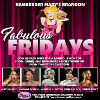 Show Ad | Hamburger Mary's (Brandon, Florida) | 1/19/2018