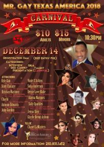Show Ad   Mr. Gay Texas America   Rose Room (Dallas, Texas)   12/14/2017