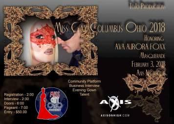 Show Ad   Miss Gay Columbus Ohio   Axis Night Club (Columbus, Ohio)   2/3/2018